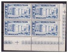 ITALIA 1952  -  FIERA DI MILANO  QUARTINA NUOVA **  ADF