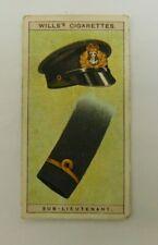 Cigarette Tobacco Card Wills Naval Dress & Badges 1909 #17 Sub Lieutenant RAN RN