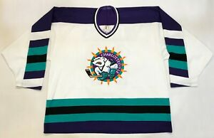 Bauer Charlottesville #14 Hockey Jersey Man XL White Sewn Canada