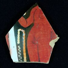 "Beautiful Ancient Greek Pottery Shard 350 - 250 Bc Measures 3.75"" x 3.5"" gr111"