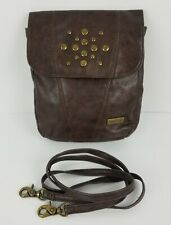 Miche Brown Crossbody Hip Purse Faux Leather Removable Strap Festival Summer Bag