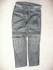 MENS PHILLIP ISLAND BIKERS GEAR UK34 WATERPROOF BLACK CORDURA LINED TROUSERS