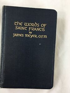 The Words of St. Francis, 1952, Catholic Religious book