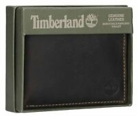 Timberland Men's Leather Wallet with Removable Passcase in BROWN OR BLACK