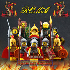 10PCS Gladiatus Minifigures Roman Elf Warrior Sparta Witch Building Blocks Toys