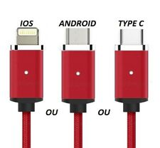 100%25 Original Cable USB Nylon Ultra Résistant iPhone 6 7 8 X Samsung S6 S7 S8 N8