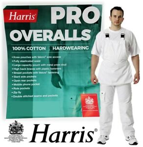 Harris Professional Overalls Painters Bib and Brace Decorators Workwear Dungaree