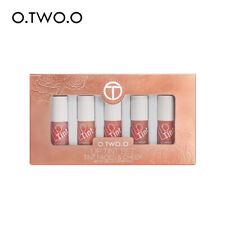 O.TWO.O Charm Lip Glaze & Blush Red Lips Set Long Lasting Pearl Lip Gloss
