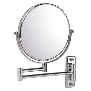 Vasari Reversible Round Wall Mounted 10x Magnifying Shaving Mirror 200mm x 200mm