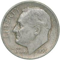 1953 D Roosevelt Dime 90% Silver Extra Fine XF
