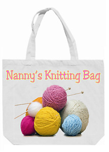 Personalised Knitting / Tote Bag  - Lovely Gift for Knitters! Ideal for Xmas