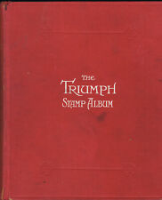 WORLD COLLECTION IN THE TRIUMPH STAMP ALBUM - OVER 600 WORLDWIDE STAMPS