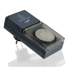 Außen Zeitschaltuhr - 230V Zeitschaltung Analog Timer Schalter - Outdoor