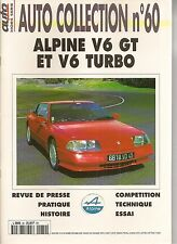 AUTO COLLECTION 60 ALPINE V6 GT ALPINE ALPINE V6 TURBO RENAULT