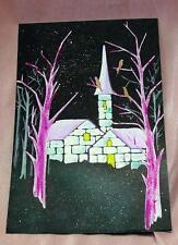VTG 1960'S ORIGINAL HAND PAINTED ILLUSTRATION - CHRISTMAS CARD ART WORK