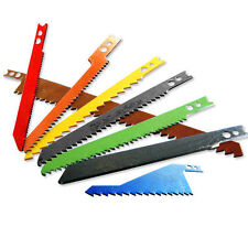NEW 8pc Sabre Jig Scroll Saw Blades Assortment Set Wood Metal Steel Drywall