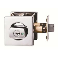 Lockwood 005 /B2CPDP Paradigm Double Cylinder Deadbolt Square Polished Chrome