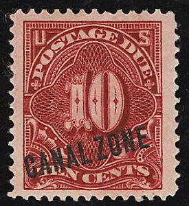 Canal Zone Postage Stamp Cat No J3 Mint LH XF W/ PF Certificate