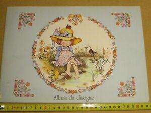 vecchio album da disegno bianco ANNELIESE Cartorama Mansell Print BV vintage di
