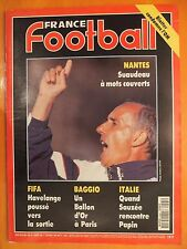 France Football 2495-1/2/1994-Baggio Ballon OR-Nantes Suaudeau-Blatter et l'OM