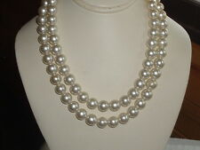 VINTAGE JAPAN PEARL NECKLACE DOUBLE STRAND