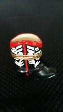 Limoges France Peint Main Western Cowboy Boot Trinket Box, Red/Black/White