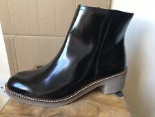 Ladies KICKERS 'Oxymora' Black Metallic Leather Boots - 7 (41) - NEW