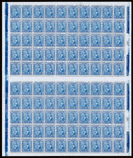 Mexico Scott 700 (1934) Natl. University Issue 20c Ultra Sheet, Mint NH VF C