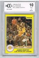 1983 Star JAMES WORTHY All Rookie #10 College Stats Beckett BCCG 10 Similar BGS