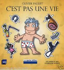 Livre pour enfants C'est pas une vie NEUF + CD audio et jeu de Olivier Paulet