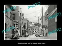 OLD LARGE HISTORIC PHOTO BISBEE ARIZONA VIEW OF SUBWAY STREET c1940