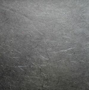 10 67X47CM sheets FINE MULBERRY TISSUE 25gsm CHARCOAL BLACK strawsilk acid free