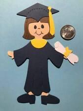 1 Graduation Girl Premade PAPER Die Cuts / Scrapbook & Card Making