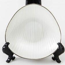 """Anton Michelson Sterling Silver White Enamel Dish Made in Denmark 4"""" Hallmarked"""