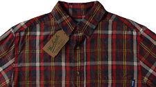 Men's WOOLRICH Lightweight Cotton Modern Plaid Shirt S Small NWT NEW
