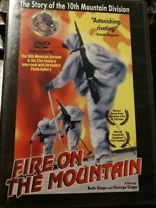 FIRE ON THE MOUNTAIN DVD 10th mountain division Army WW II 2 Documentary War