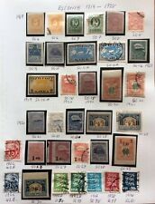 Estonia 1919 To 1928 Unmounted Mint And Used Stamps Mixed Lot On Album Page