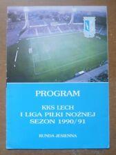 Lech Poznan Handbook, 1990/91.
