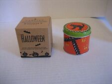 Avon Halloween Spooky Treats Candle Collection Black Cat Candle Tin/Lid NWIB