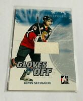 DEVIN SETOGUCHI - 2007-08 IN THE GAME - HEROES & PROSPECTS - GAME USED GLOVE