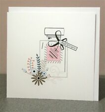 Just for You Card, Birthday card, Thank you card, Blank for own message, White.