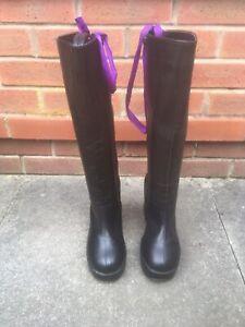 Demonia Boots Black Vegan Leather Size U.K. 5