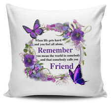 That Somebody Calls You Friend Floral Cushion Cover - 40cm x 40cm