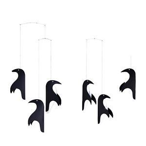 Flensted Penguin Talk Parade Modern Hanging Mobile Kinetic Art Decor Danish