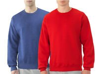 Fruit of the Loom Mens Blue Red Best Crewneck Sweatshirt Fleece Pullover Sweater