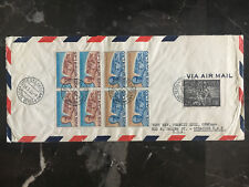 1955 Vatican cover to USA  Multi Franked  See Back!