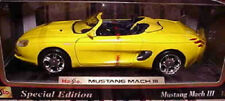 1994 Mustang Mach 3 Convertible YELLOW 1:18 Maisto 31815