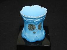 "Northwood Pagoda AKA Chrysanthemum Sprig Toothpick Turquoise Blue 2 1/2"" T 1899"