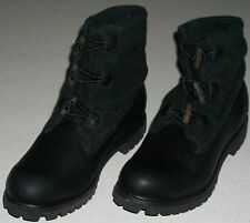 TIMBERLAND Water Proof LEATHER WOOL ROLL-TOP BOOTS NEW BLACK 9.5 Xmas Mens Shoes