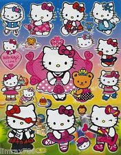HELLO KITTY LOVE ROCKSTAR SCRAPBOOKING STICKERS OR ROOM DECOR HQ (BUY 5 FREE 1)